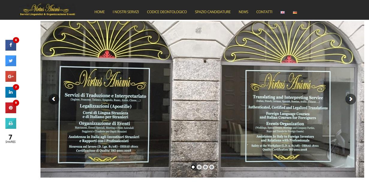Virtus animi traduzioni giurate interpretariato mf for Web designer milano